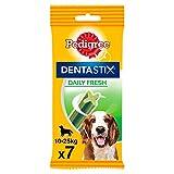 Pedigree Dentastix Fresh Snack Dental para la Higiene Oral y Contra el Mal Aliento de Perros Medianos (10 paquetes de 7ud)
