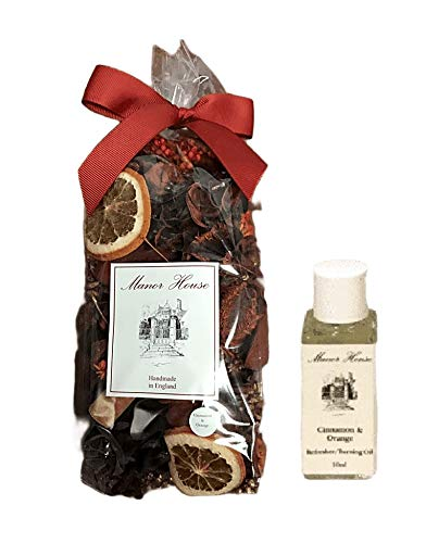Manor House Cinnamon and Orange Scented Fragrance Potpourri and Refresher Oil