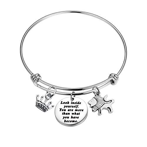 The Lion King Inspired Bracelet Look Inside Yourself You're More Than What You Have Become Inspiration Gift The Lion King Quotes Jewelry (Lion Bracelet)