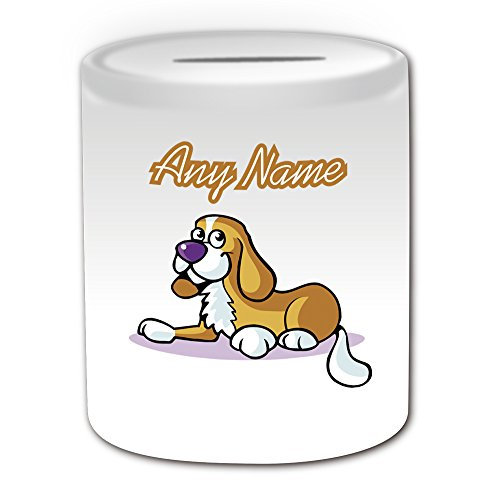 UNIGIFT Gepersonaliseerd geschenk - Nova Scotia Eend Tolling Retriever Money Box (Animal Dog Design Theme, Wit) - Naam/Bericht op uw Unieke - Piggy Bank Saving Jar Pot - Puppy