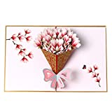 3D Pop up Flower Bouquet Greeting Card,Teacher's Day Card,Mother's Day Father's Day Card,Thank You Card,Appreciation Card,Birthday Card,Anniversary Card,Christmas Cards