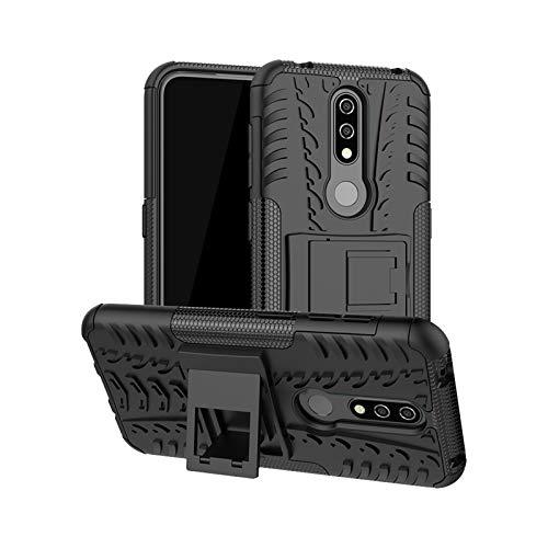 betterfon | Nokia 4.2 hülle Outdoor Handy Tasche Hybrid Hülle Schutz Panzer TPU Silikon Hard Cover Bumper für Nokia 4.2 Schwarz