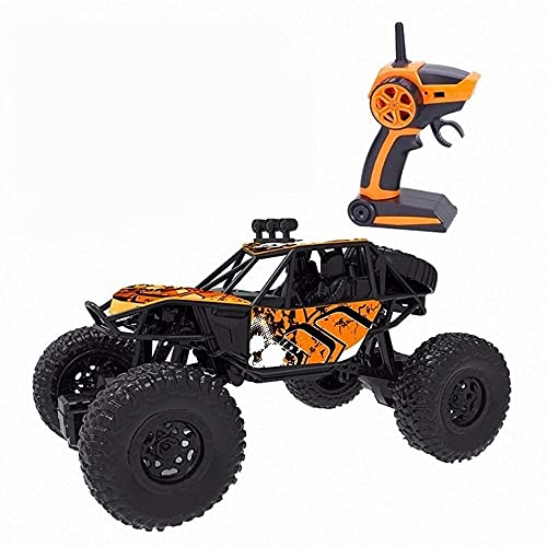 ADSVMEL RC de Alta Velocidad 45Km / h 2.4Ghz Radio Car Bigfoot Desert Stunt Multi-Terrain Off-Road Car con Potente Motor magnético, timón Flexible para niños Adultos RC Hobby Orange