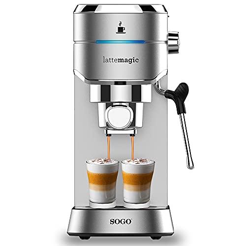 SOGO CAF-SS-7600 CAFETERA EXPRESSO ACERO INOX 15 BARES, Depósito de 1l1450W