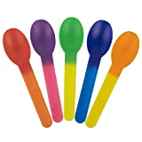 MADE IN USA: These Color Changing Spoons Are Made in the Good 'ol USA and Change Color Based On NASA Technology SO MANY USES: Perfect For Eating Frozen Desserts, Ice Cream, Cereal, Oatmeal, Hot Soups, Yogurt, Birthday Cake, Pie, or Any Food You Desir...