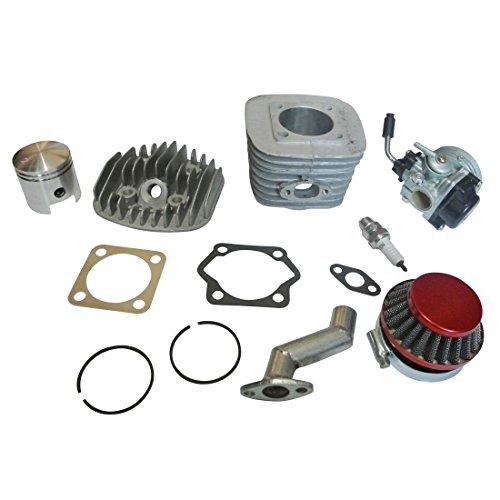 NAVARME 80cc Piston and Cylinder Motorized Bike Engine Rebuild Kit Carburetor Air Filter New