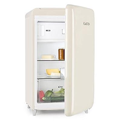 Klarstein PopArt Back-Refrigerator – Combi Refrigerator, Fridge 108L, Freezer 13L, Retro Design