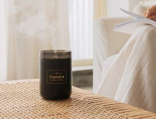 Qushini Candle Humidifier, luchtbevochtiger, zwart