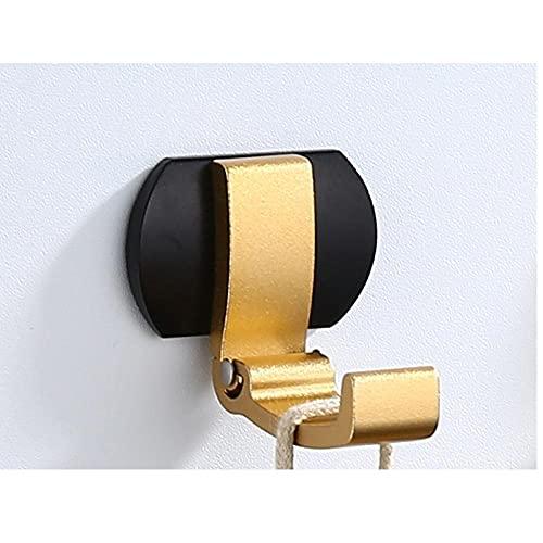 Espacio Aluminio 4pcs Punzonado gratis Fácil de instalar Mano de pared oculta plegable HOLD HOLD Dorado Negro Plata-C2 resistente a la corrosión fácil de limpiar e higiénico