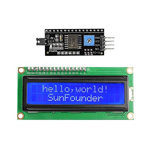 SunFounder IIC I2C TWI 1602 Serial LCD Module Display for Arduino R3 Mega 2560 16x2 (MEHRWEG)