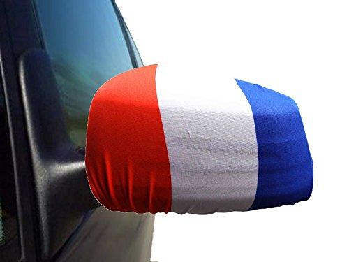 Sonia Originelli 2er Set Außenspiegel Flagge WM Fußball Fan Auto Fahne Farbe Frankreich
