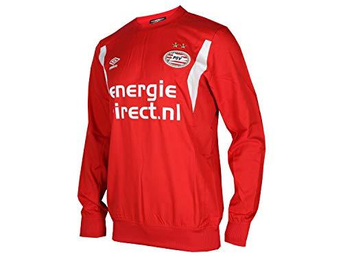 UMBRO PSV Eindhoven Training Drill Top rot Eredivisie Fussball Jersey PSV Trikot, Größe:M