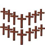 70 Pezzi Ciondoli Croce di Legno Fai Da Te Croce Fascino Naturale Croce di Legno Artigianato per Feste Fai-Da-Te Progetti di Gioielli