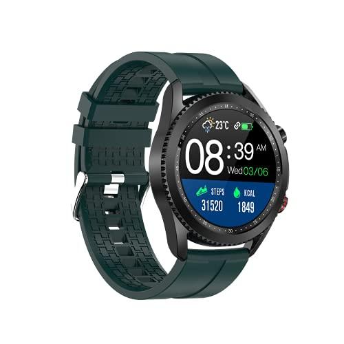 Reloj Inteligente, Relojes para Hombres Mujeres Fitness Tracker Monitor de Presión Sanguínea Medidor de Oxígeno en la Sangre Monitor de Frecuencia Cardíaca IP (Verde)