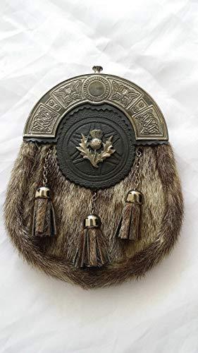 New Full Dress Kilt Sporrans celtique Bourrelets Finition antique/écossais Sporrans Formal Seal Skin