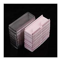 wuxinye 50pcs /セットプラスチックピンクベージュ透明アイラッシュケースロットまつげケース収納梱包箱メイクアップケース40#41 (Color : 50pcs pink)