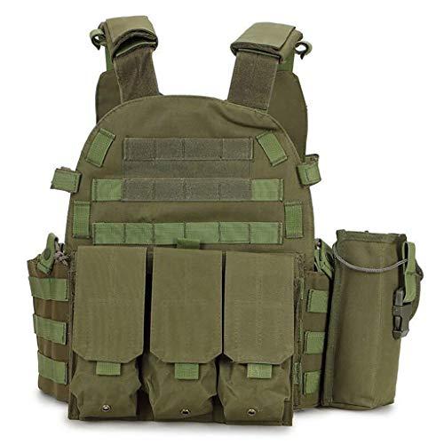 LY-01 Chaleco táctico Militar Chalecos Ligeros multifuncionales Equipo de Combate de Campo al Aire Libre de Camuflaje CS 6094 (Color : C)