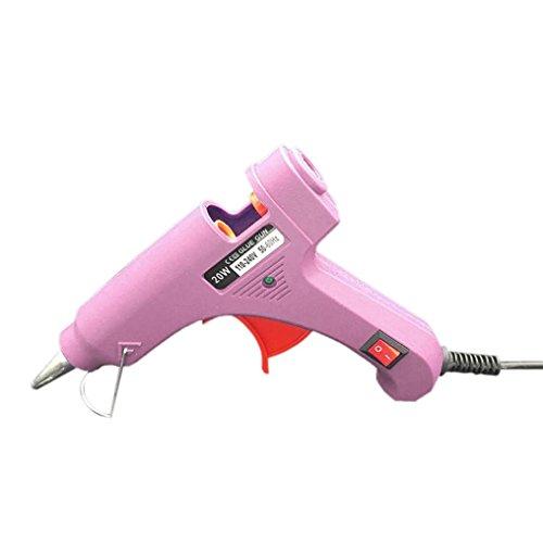 Pistola de Silicona, Pistola de Pegamento STRIR Melt Trigger Para mini metal, Madera, Vidrio, Tela, Plástico, Cerámica DIY y Proyectos de Reparación (Rosa)