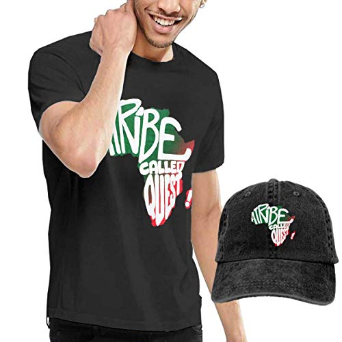 Thimd Uomo Maglietta e Cappello da Baseball, A Tribe Called Quest T-Shirts Washed Denim Baseball Dad Caps Black
