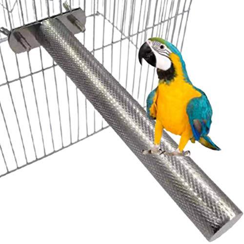 dilib 爪磨き 鳥かご とりかご インコのかご 止まり木 ケージ 文鳥 ゲージ 鳥 かご ステンレスみがき インコ とまり木 オカメインコ (2.5cm×30cm, 1本)