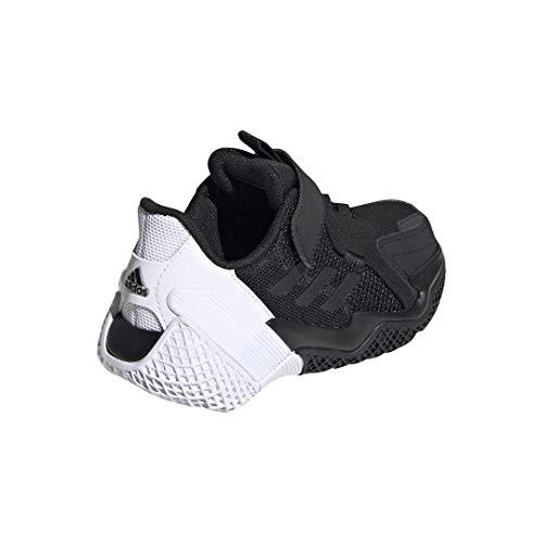 adidas 4Uture Runner Elastic Running Shoe, Black/White/Black, 13 US Unisex Little Kid