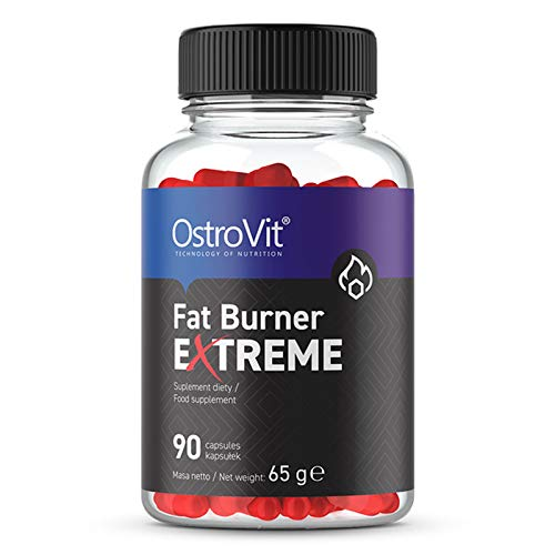 Ostrovit Fatburner Extreme 90 Kapseln   Thermogen   Gewichtsverlust   Schlankheitspillen   Reduzierung des Fettgewebes   Energie & Ausdauer   Nahrungsergänzungsmittel
