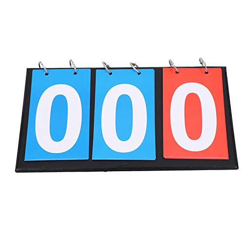 Marcador, contador de puntuación, 2/3/4 dígitos para fútbol, baloncesto, tenis de mesa para ping-pong para la clase de educación física para árbitro(Three-digit scoreboard, Blue)