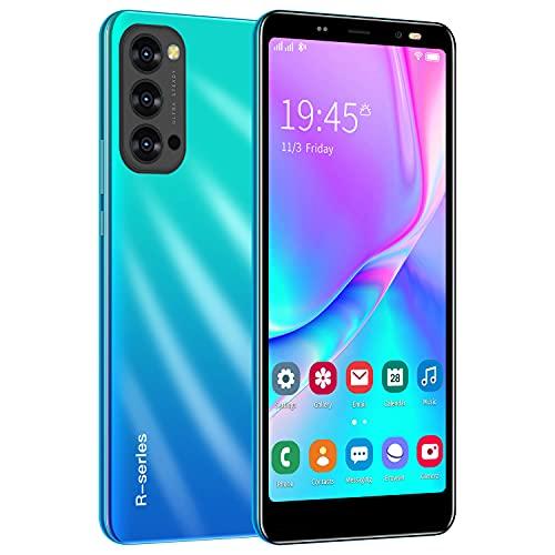 Cheap Android Smartphones, Dual Sim Mobile Phone, 5,5 pouces, Quad-Core 4 Go ROM, Dual Cameras, Bluetooth, GPS, Wifi Cell Phones (Reno4-Bleu)