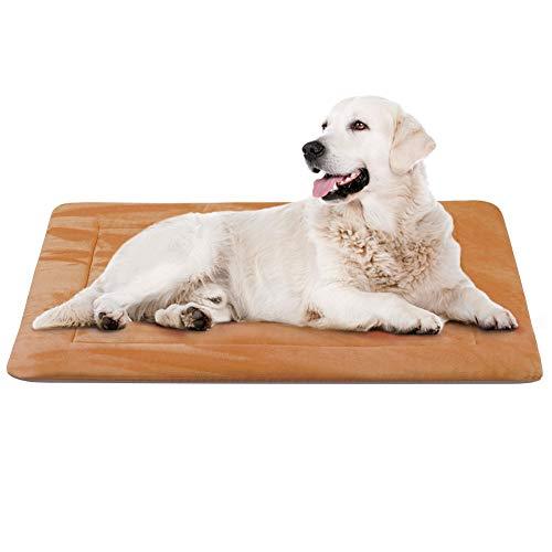Hero Hond Grote Hond Bed Mat Wasbaar Krattenmatras 35/42/47 Inch Niet Slip Huisdier Kussen Pad, M(90 x 60 CM), Koffie