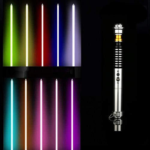 Y&Z RGB Lightsaber Toy, USB 11 Colores con 5 Juegos de Impresionantes Efectos de Sonido, Anakin Skywalker Luke Force Fx Lightsaber, Mango de Metal (Espada de 40 Pulgadas)