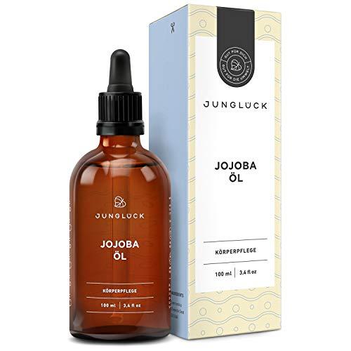 Junglück Jojobaöl 100% rein & vegan | 100 ml in Braunglas | Kraft, Vitamine & Pflege für Gesicht & Haut durch reines Öl aus Jojoba Kernen | Natürliche & nachhaltige Kosmetik made...
