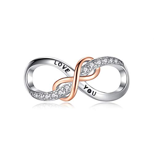 LILIANG Charm Jewelry 100% 925 Sterling Silver Charm Shining Crystal Infinity Love You Bead Fit Original Charms Pulseras para Mujeres DIY Jewelry