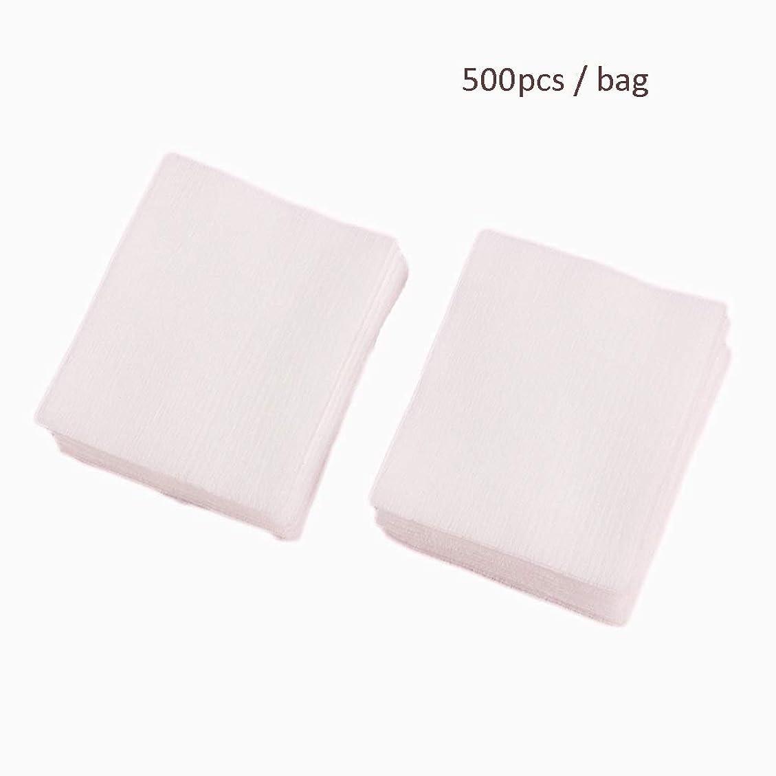シチリアライフルインディカクレンジングシート 500ピース/バッグフェイシャルオーガニックコットンパッドフェイシャルクリーニングネイルポリッシュリムーバー化粧品ティッシュメイクアップ美容スキンケアツール (Color : White, サイズ : 5*6.2cm)