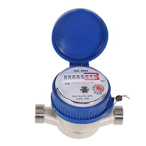 Hemobllo Wasserzähler Wasserzähler Kaltwasserzähler für Garten und Heimgebrauch