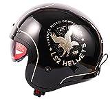 HBRE Casco Moto Certificado CE,Integral Casco De Seguridad con Forro ExtraíBle Y Transpirable,Resistente para Deportes Al Aire Libre Adecuado para 59-62cm,3,XL