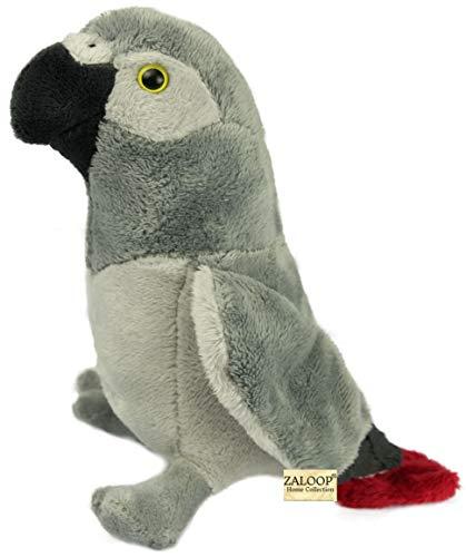 Zaloop Papagei Graupapagei ca. 20 cm Kuscheltier Plüschtier Stofftier C1