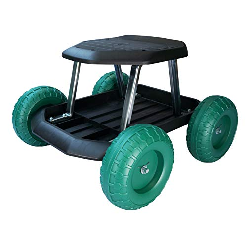 easylife lifestyle solutions Mobility Aid Home & Garden Cart With Wheels | Alleviates Pain From Bending, Kneeling and Crawling | Perfect For Gardening And Household Tasks - Home & Allotment Gifts