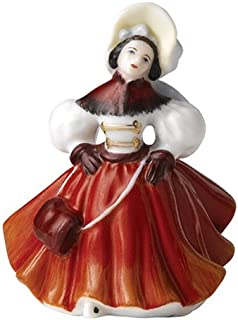Royal Doulton Miniature Pretty Ladies: Christmas Skater
