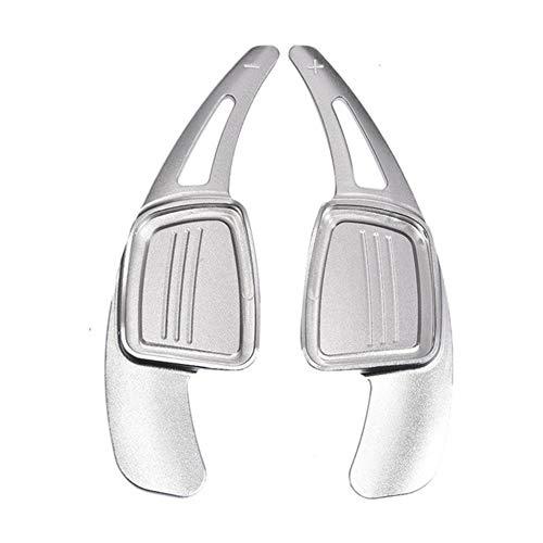 XINLIN Ruderude 1 par de dirección de Coches Cambio de Ruedas levas de Cambio de Aluminio Paletas de extensión for Audi A3 S3 S4 A4L A5 Q5 Q7 Q2 Accesorios del Coche (Color : Silver)