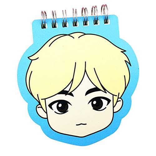 Noah Nieuwe Cartoon Kpop BTS Pop Up Winkel: Huis van BTS Goederen - Spiraal Coil Notebook Kladblok JIN