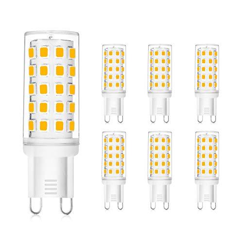 WEDNA G9 LED Leuchtmittel, 3W Ersatz für 30W Halogenlampen, 54 Leds 350 Lumen, Kein Flackern G9 Birne, Warmweiß 3000K, AC110V-240V, Nicht Dimmbar - 6 Stück