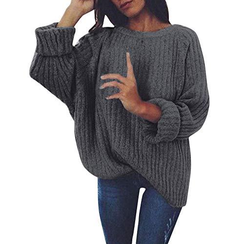 FRAUIT gebreide trui dames gebreid diep O-hals gebreide lange mouwen pullover lange mouwen wrap front lover pullover jumper