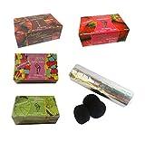 Outletdelocio. Pack 4 Hierba para cachimba Shisha de sabores Variados (Fresa, Menta, Chicle y Cereza) + Pastillas Carbon cachimba