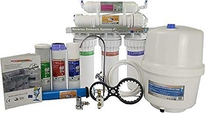 Water2buy Osmoseur RO500 | Système de filtre à eau par Osmoseur en 5 étapes sans pompe
