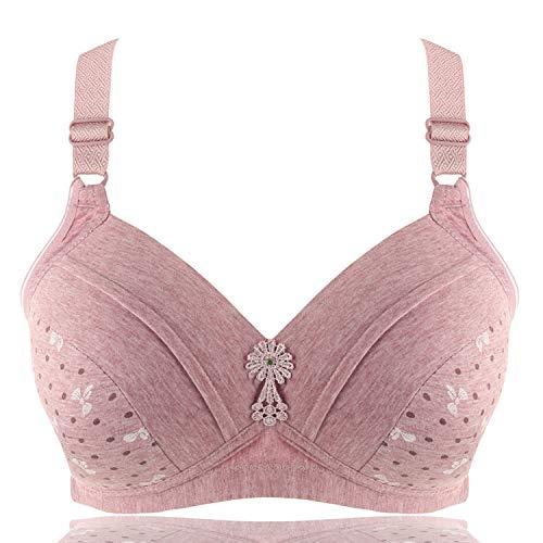 Plus Size Bra Wire Free Bras for Women Thin Cotton Flower E Cup 40 48 Y line Straps None Closure BH Sexy Bras,1,E,48
