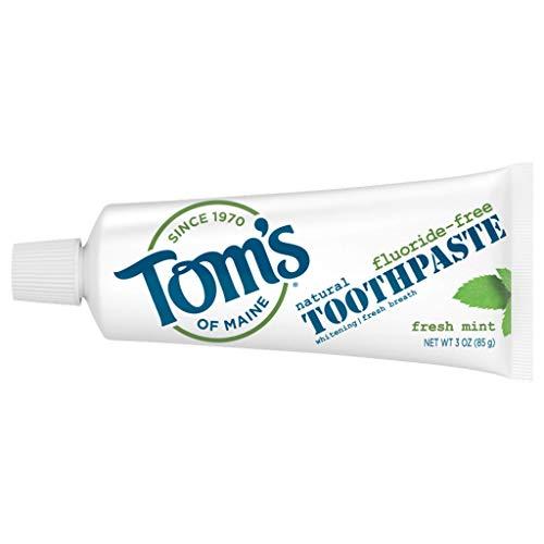 Tom's of Maine Travel Size Fluoride-Free Fresh Mint Toothpaste, 3 oz.