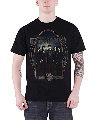 Black Veil Brides T Shirt Ornaments Band Logo Nue offiziell Herren
