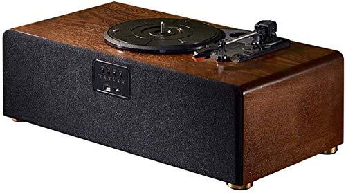 TYX-SS Vintage Vinyl-Plattenspieler, 3-Gang-Plattenspieler-Bluetooth-Schallplatten-Phonograph mit 2 eingebauten Ersatznadeln für Stereolautsprecher