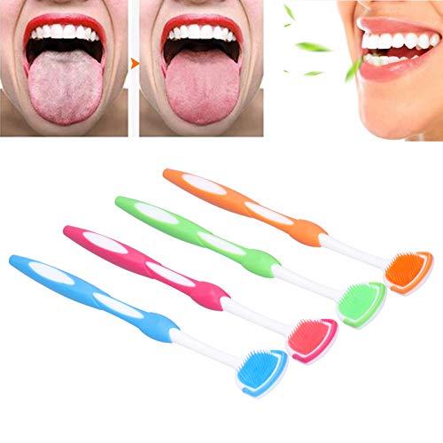 Cepillo de lengua, cepillo ultra suave firme y raspador de lengua para viajes a casa para el cuidado bucal de niños adultos