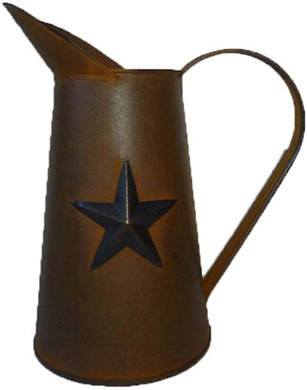 Craft Outlet Inc 11 Rusty Tin Pitcher W Star